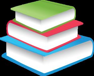 3 übereinander liegende Bücher