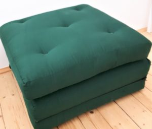 3-teiliger grüner Klappfuton, Klappmatratze