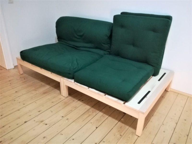 Minimalismus im Wohn- und Schlafzimmer – Podeste mit Futons