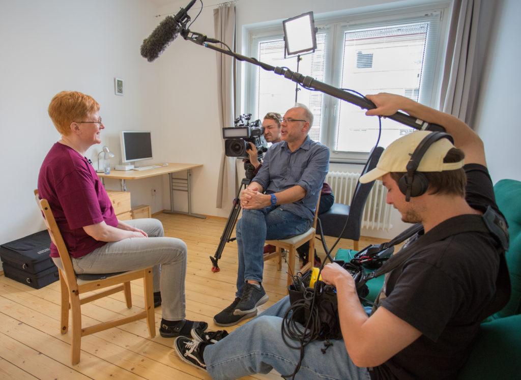 Szene aus einer TV-Aufnahme
