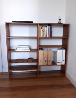 Minimalismus-Bücherregal