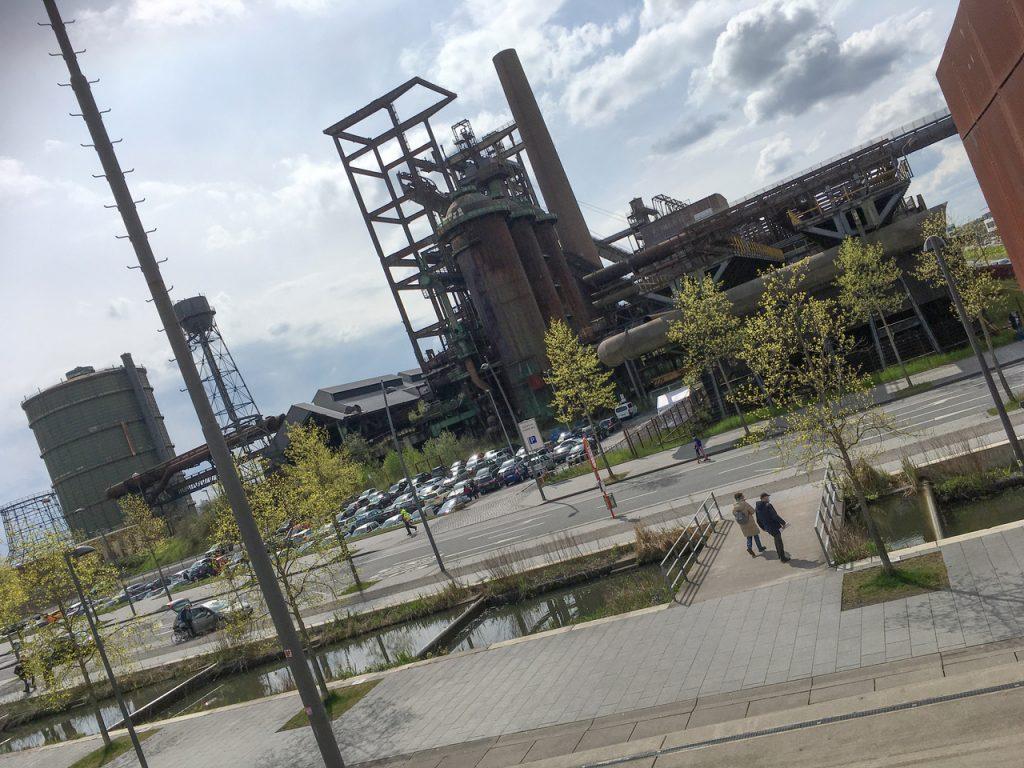 Phoenix West Dortmund Blick auf Hoeschanlage